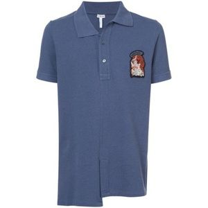 LOEWE Dog Patch Polo Shirt